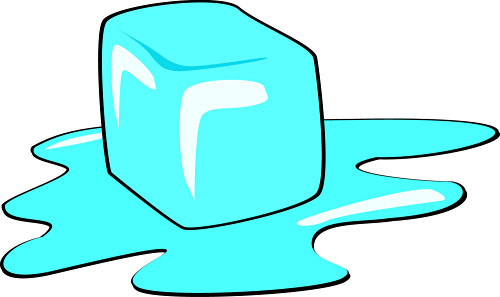 physical change ice cube melting public domain clipart digital image    Physical Change
